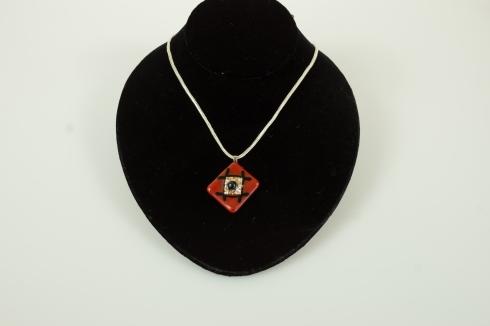 red square pendant